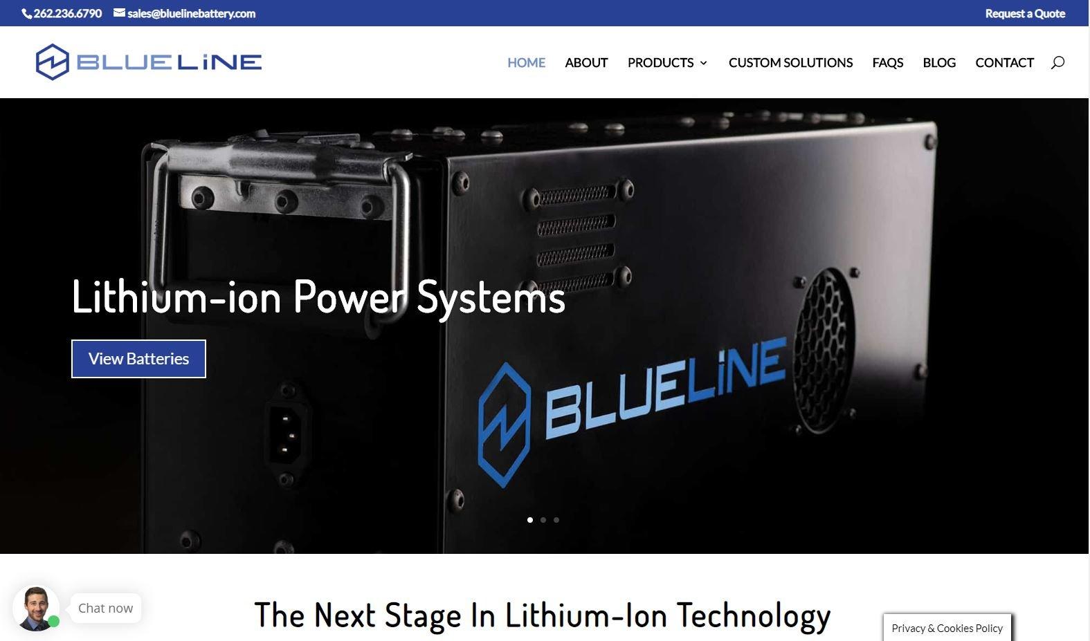 Blue Line Battery Screenshot